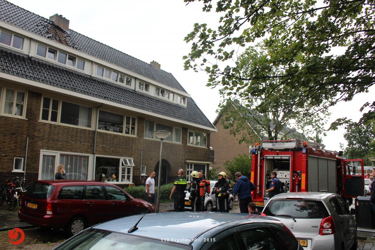 Brandweer ingezet voor blikseminslag woning