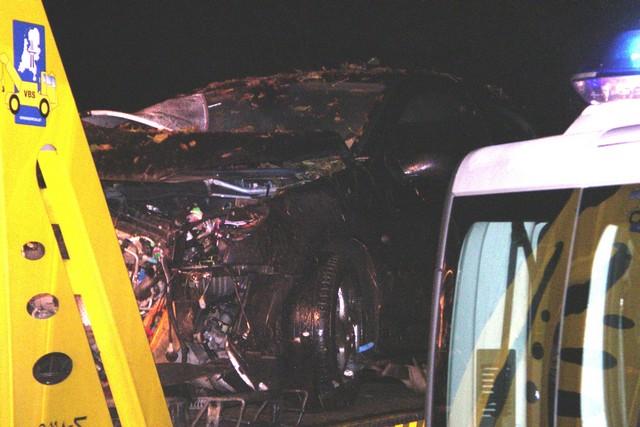 Auto totall loss na eenzijdig ongeval te Akkrum