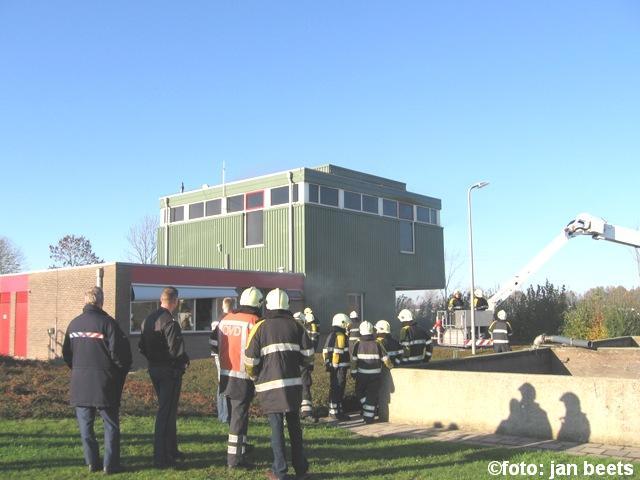 Gebouw in brand bij waterzuivering Dokkum