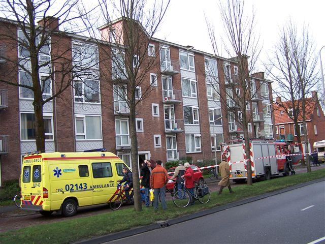 Woningbrand P.Stuyvessantweg Leeuwarden