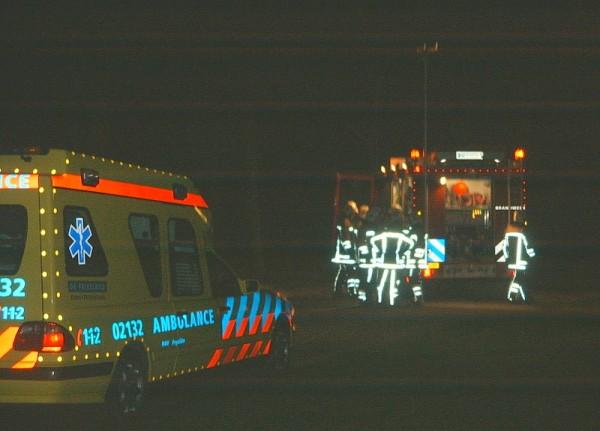 Auto brand uit in Makkum