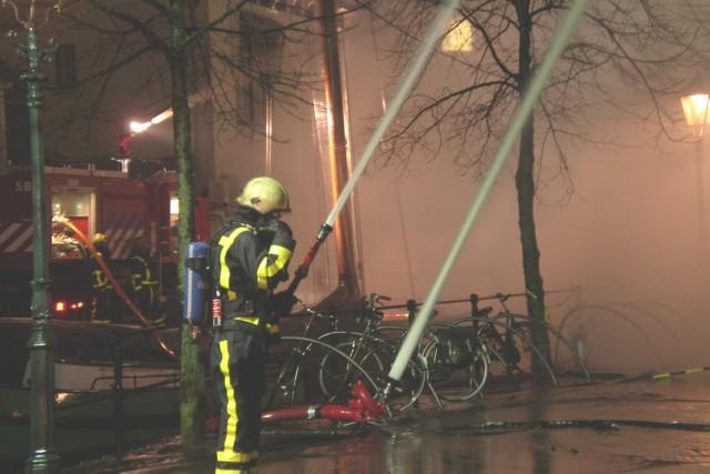 Zeer grote brand centrum Heerenveen