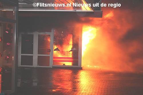 Wibra Heerenveen uitgebrand