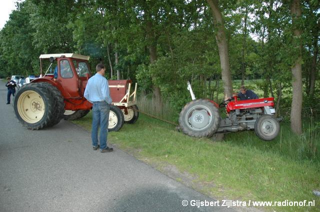 Tractorbestuurder gewond na ongeval