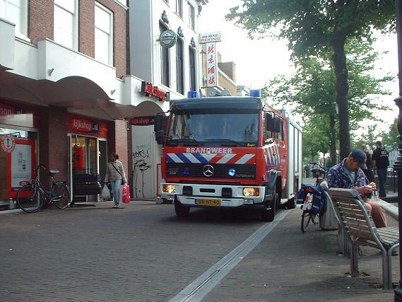 Klein brand bij Chinees restaurant Heerenveen