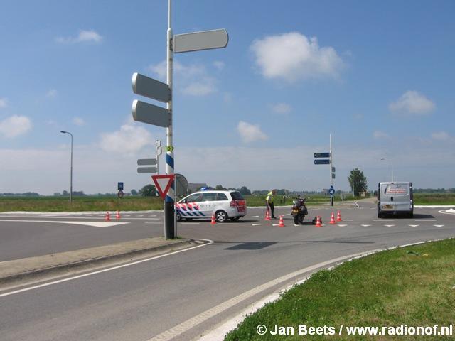 Motorrijder gewond na botsing bij Anjum