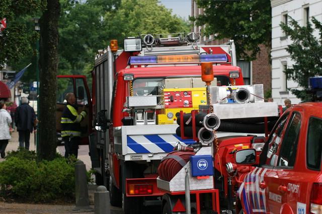 Vriezer in brand te Beetsterzwaag