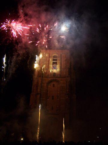 Vuurwerkshow bij opening Oldehoofsterkerkhof * Foto update *