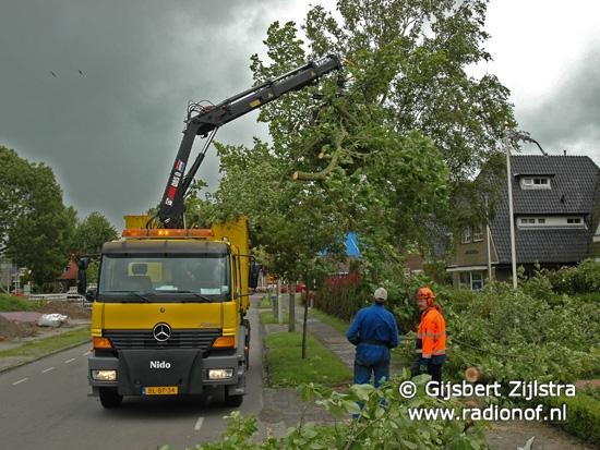 Stormschade Friesland