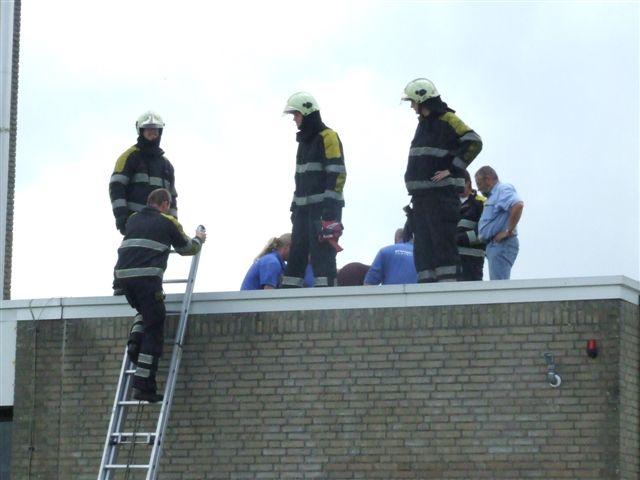 Brand op dak van Talma verpleegtehuis Dokkum