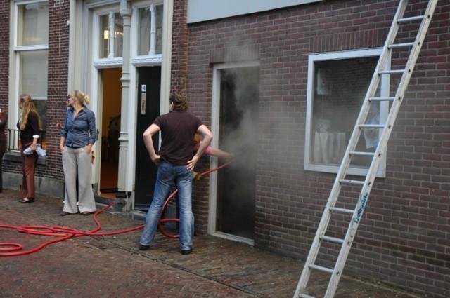 Dakbrand na werkzaamheden