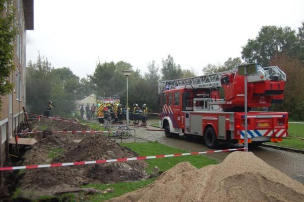 Veel rook bij brand Drachten + aanhouding verdachten brandstichting.