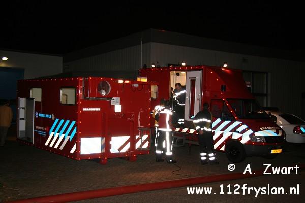 Zeer grote brand aan de Tinweg in Heerenveen ( FILM )