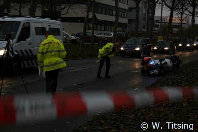 Aanrijding met politiemotor Oostergoweg *update*