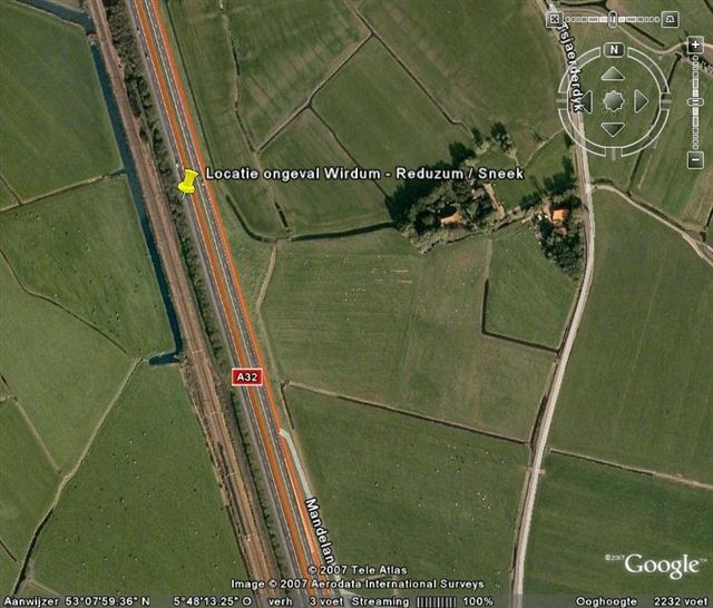 Ernstig ongeval op A32 bij Wirdum