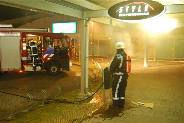 Bedrijfsbrand blijkt brandende prullenbak