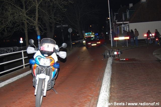 Snorfietser in botsing met personenauto