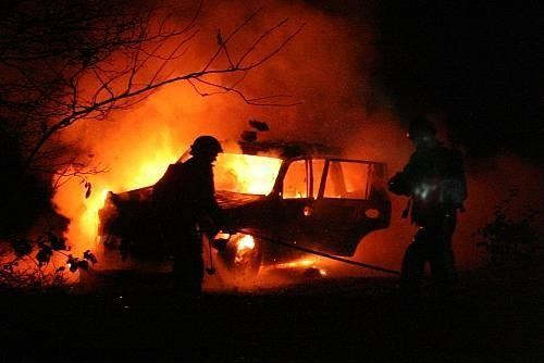 Autobrand in Nieuwehorne