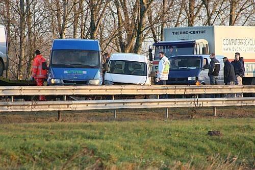 Aanrijdingen op de A7 bij Heerenveen