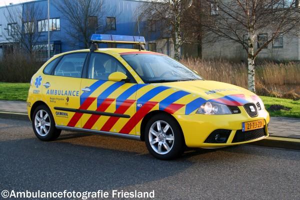 Lichtbalk van ambulance gestolen