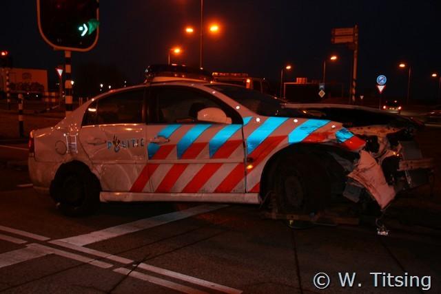 Aanrijding met politieauto kruising Zuiderburen update! *FILM*