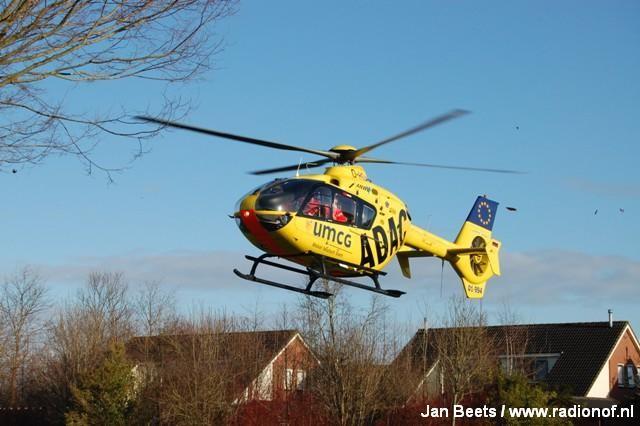 Traumahelikopter ingezet in Kollum