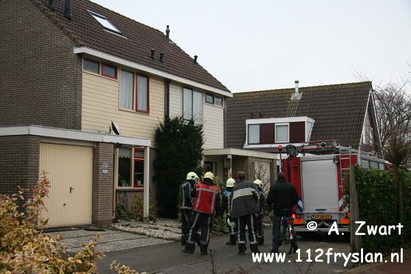 Schoorsteenbrand Akkrum en heli inzet Heerenveen