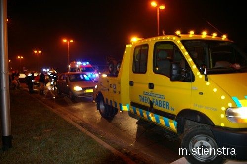 Veel schade bij aanrijding 3 auto's *