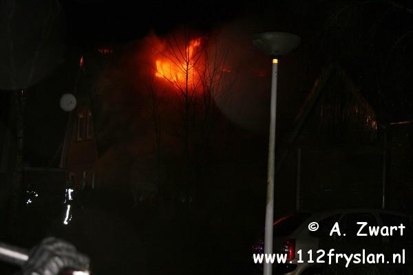 Woning verwoest door uitslaande brand (film)