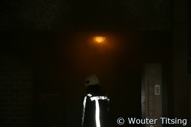 Slaapkamerbrand met hevige rookontwikkeling