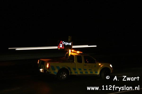 Ongeval door overstekend wild A32