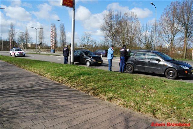 Aanrijdingen in Leeuwarden+gaslek Wytgaard