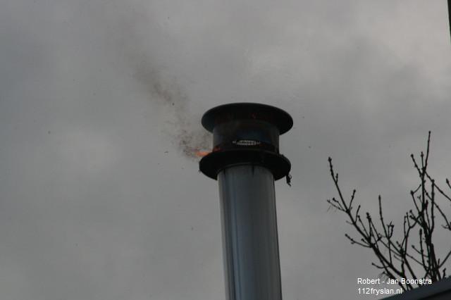 Schoorsteenbrand Binnenstad Leeuwarden