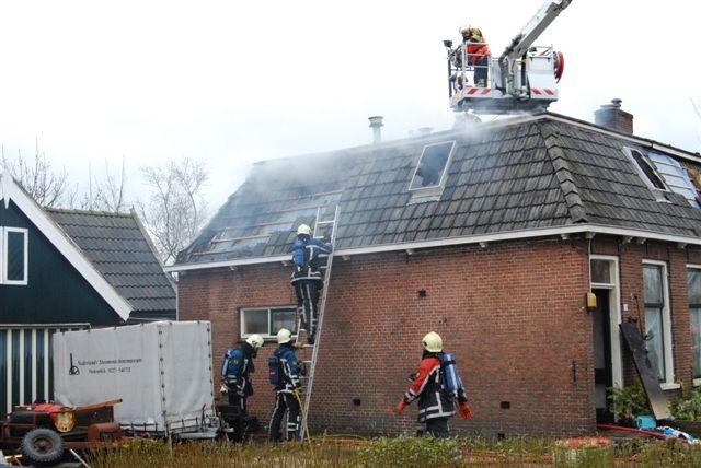 Uitslaande woningbrand Wiuwert (video )