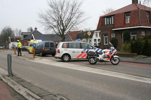 Kop staart aanrijding Gorredijk(Foto)