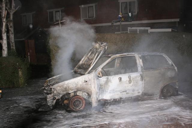 Autobrand Schoppershofstraat