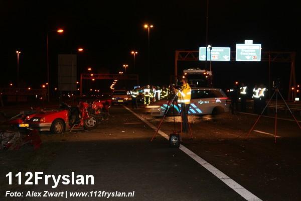 Ernstig ongeval A32 Heerenveen ( VIDEO ) update