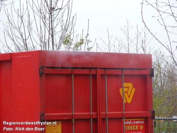 Containerbrand Achlumerdijk Harlingen (VIDEO)