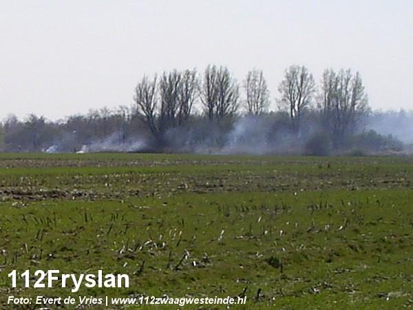 Natuurgebied in brand