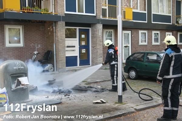 Ongeregeldheden bij buitenbrand