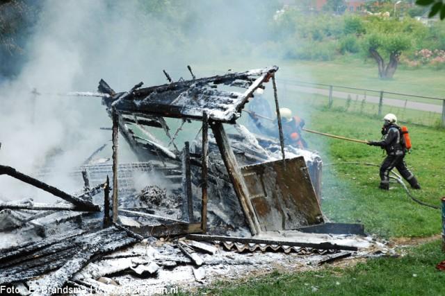 Geitenhok Abbingapark verwoest door brand *update*