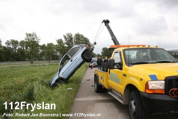 Auto te water Sylsterdyk Leeuwarden