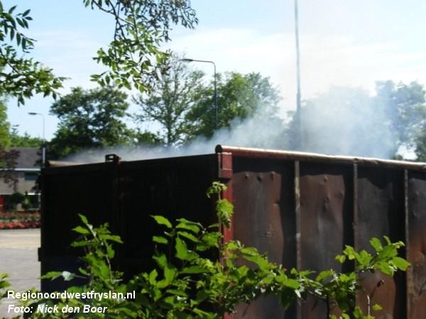 Containerbrand achlumerdijk (VIDEO)