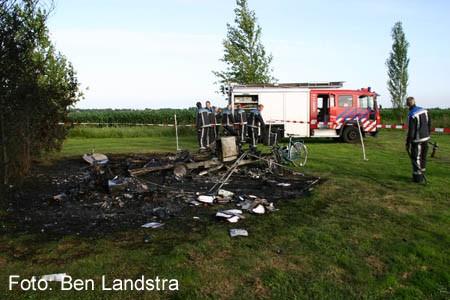 gewonde bij caravanbrand