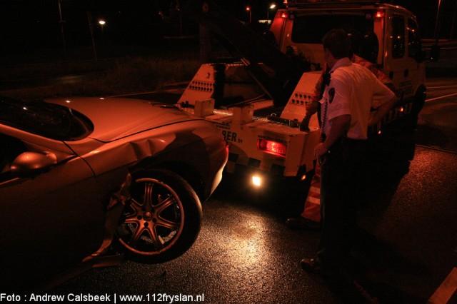 Auto ramt verkeersportaal & Motorongeval Werpsterhoek