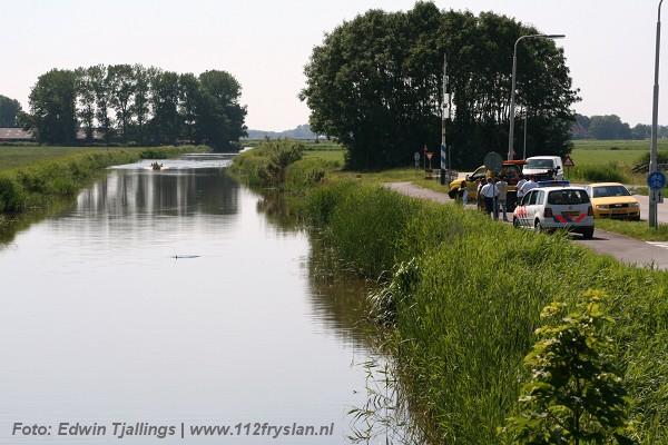 Drenkeling Andringastate Leeuwarden blijkt auto in water Marssum