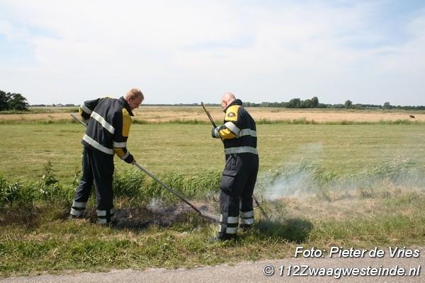 Berm op meerdere plekken in brand