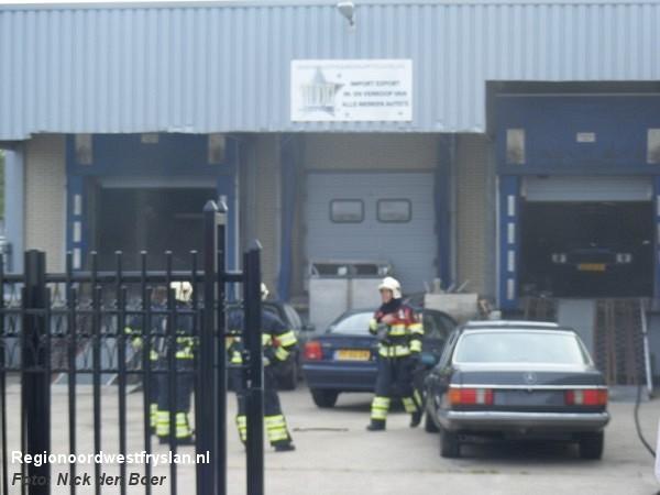 Bedrijfsbrand bij Autobedrijf Yildiz