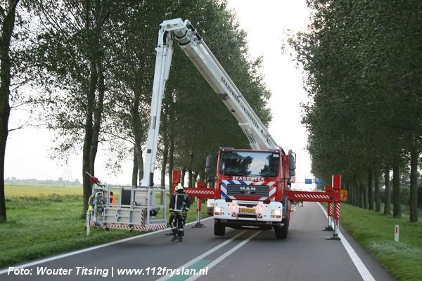 Files door stormschade in Friesland