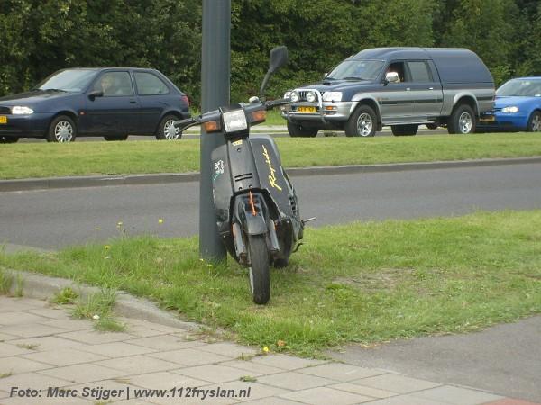 Bromfietser aangereden in Drachten(foto!)